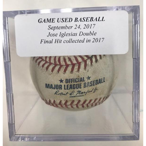 Photo of Game-Used Baseball: Jose Iglesias Double