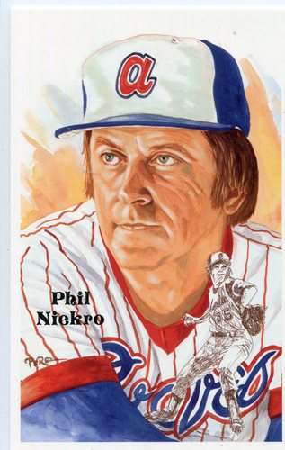 Photo of 1980-02 Perez-Steele Hall of Fame Postcards #231 Phil Niekro -- Set #08689