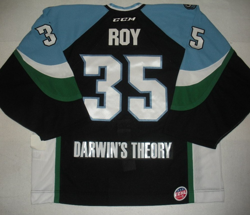 Olivier Roy - 2014 Kelly Cup Finals - Alaska Aces - Black Game-Issued Jersey - Game 4