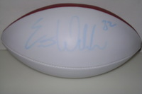 CHARGERS - ERIC WEDDLE SIGNED PANEL BALL (LIGHT BLUE SIGNATURE)