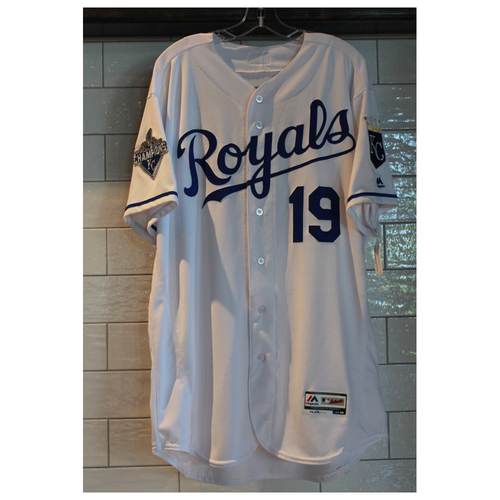Photo of Game-Used Cheslor Cuthbert jersey (9/17/16 CWS at KC) (Size 48)