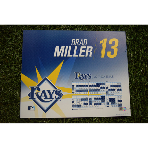 2017 Team-Issued Locker Tag - Brad Miller