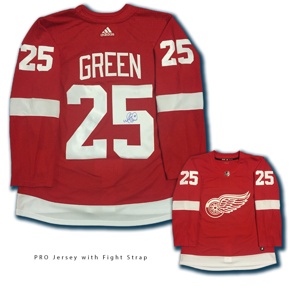 MIKE GREEN Signed Detroit Red Wings Red Adidas Jersey