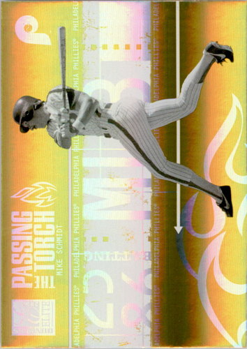 Photo of 2005 Donruss Elite Passing the Torch Gold #23 Mike Schmidt