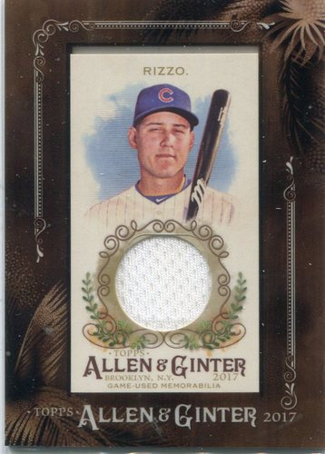 Photo of 2017 Topps Allen and Ginter Framed Mini Relics  Anthony Rizzo Jersey