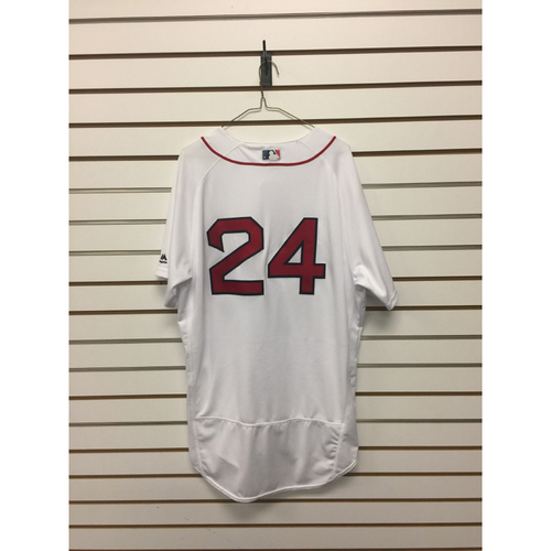 Photo of David Price Game-Used October 10, 2016 Home Jersey