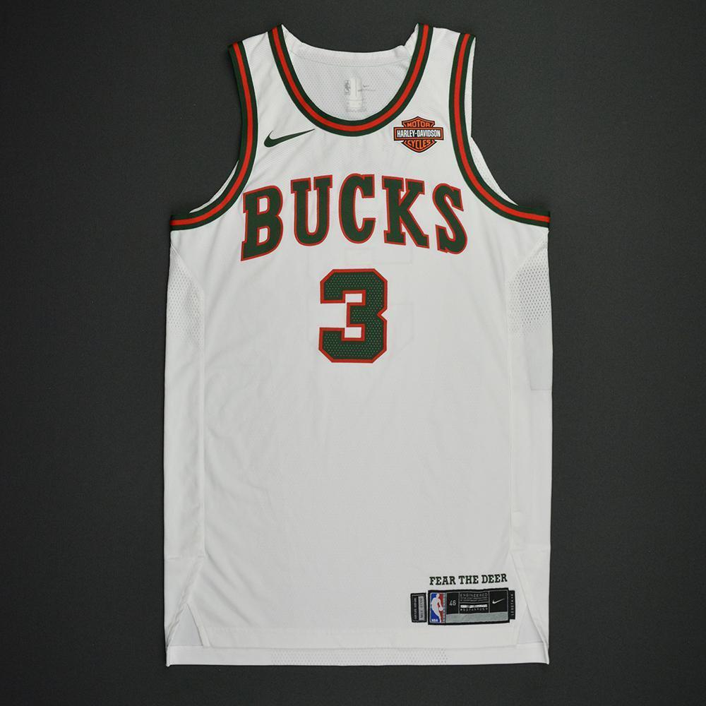 Jason Terry - Milwaukee Bucks - Hardwood Classics 1968-69 Home Style Game-Worn Jersey - Dressed, Did Not Play - 2017-18 Season