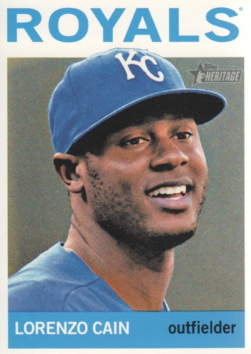 Photo of 2013 Topps Heritage #265 Lorenzo Cain