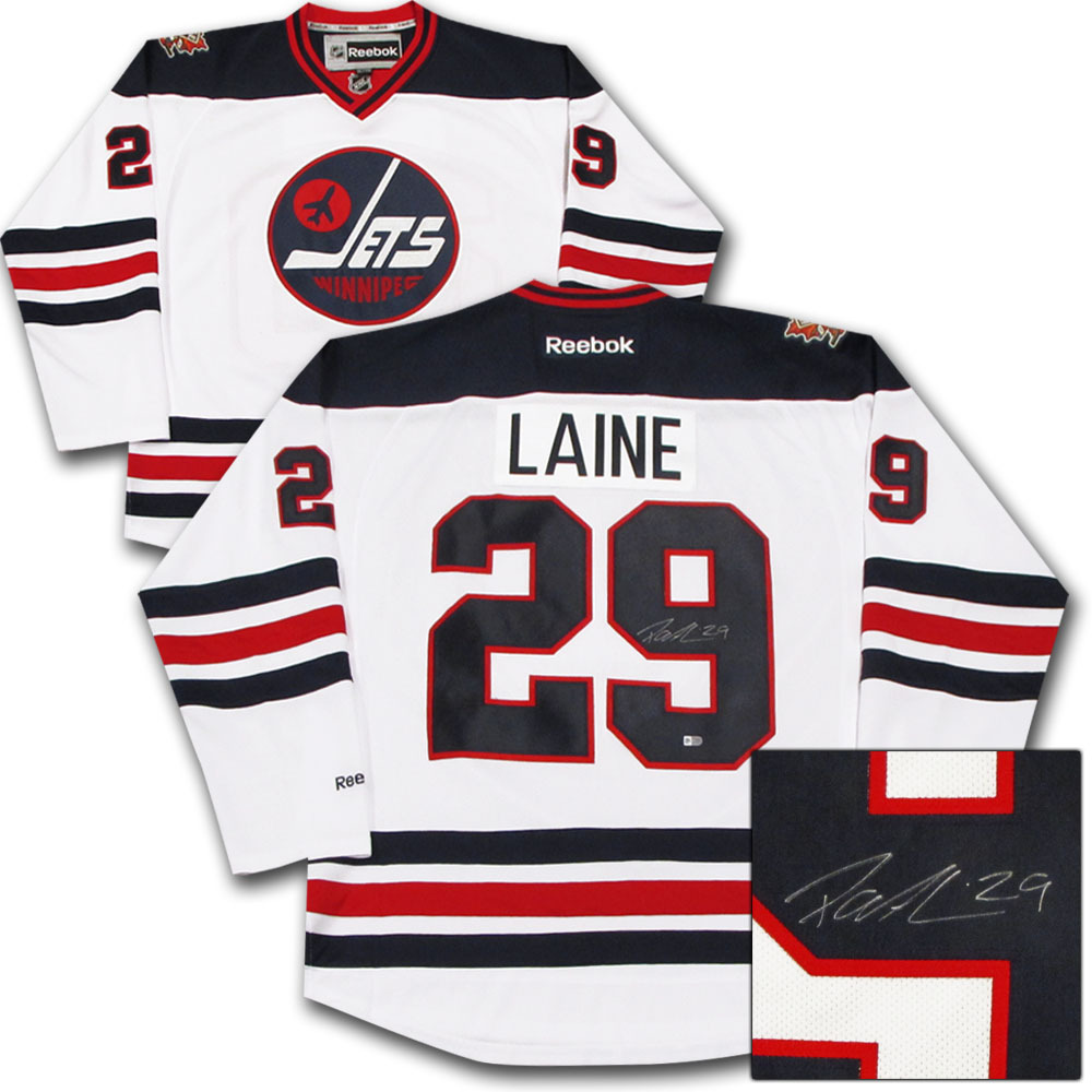Patrik Laine Autographed Winnipeg Jets 2016 Heritage Classic Jersey