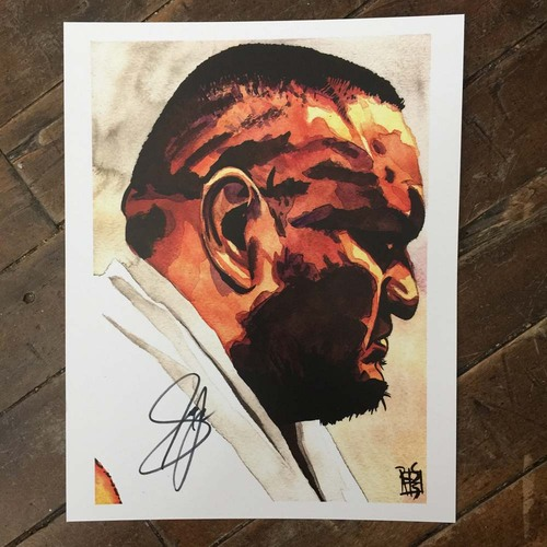 Samoa Joe SIGNED 11 x 14 Rob Schamberger Print