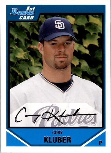 Photo of 2007 Bowman Draft Draft Picks #BDPP29 Cory Kluber -- Indians post-season