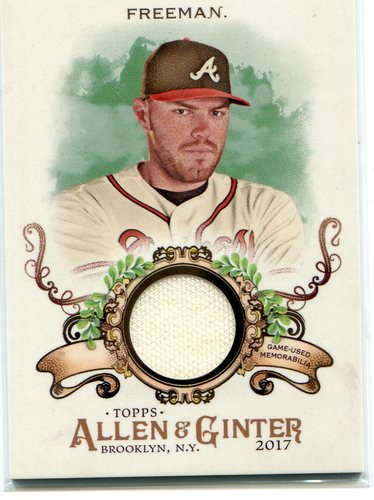 Photo of 2017 Topps Allen and Ginter Relics  Freddie Freeman Jersey
