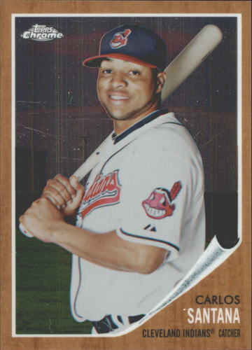 Photo of 2011 Topps Heritage Chrome #C188 Carlos Santana -- Indians post-season