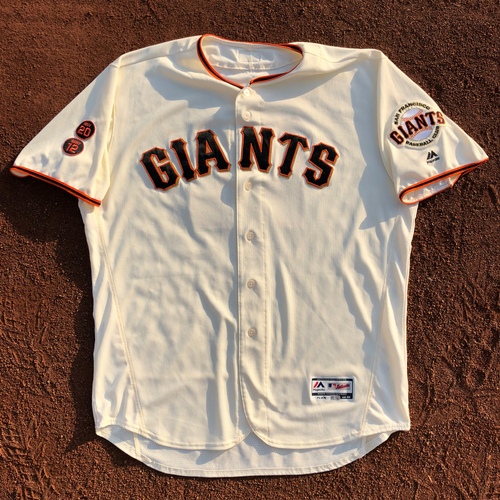 Photo of San Francisco Giants - HOLIDAY STEALS - 2016 Game-Used Jersey - worn by #15 Bruce Bochy on 10/1/2016 - (Size: 52)