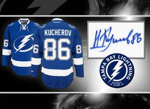 Nikita Kucherov Tampa Bay Lightning RBK Premier Autographed Jersey