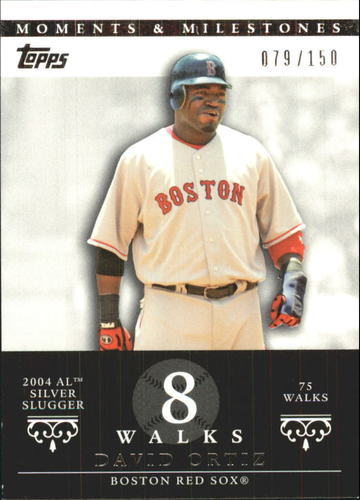 Photo of 2007 Topps Moments and Milestones #103-8 David Ortiz/BB 8