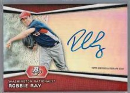 Photo of 2012 Bowman Platinum Prospect Autographs #RR Robbie Ray
