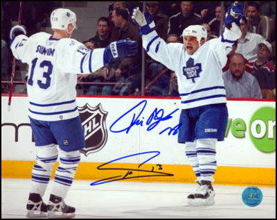MATS SUNDIN & TIE DOMI Toronto Maple Leafs DUAL-SIGNED 11x14 Photo