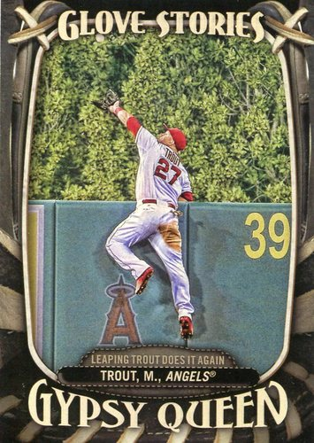Photo of 2016 Topps Gypsy Queen Glove Stories #GS1 Mike Trout