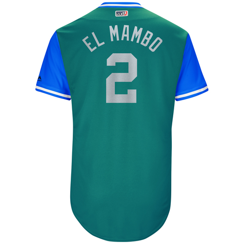 """Photo of Jean """"El Mambo"""" Segura Seattle Mariners Game-Used Players Weekend Jersey"""