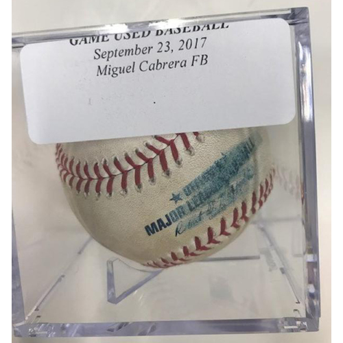 Photo of Game-Used Baseball: Miguel Cabrera Foul Ball