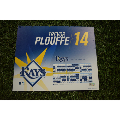 Photo of 2017 Team-Issued Locker Tag - Trevor Plouffe