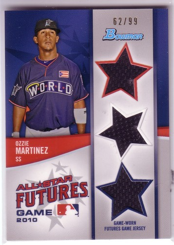 Photo of 2011 Bowman Future's Game Triple Relics #OM Ozzie Martinez
