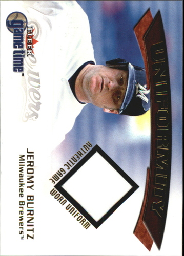 Photo of 2001 Fleer Game Time Uniformity #4 Jeromy Burnitz