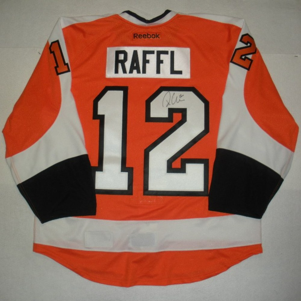 Michael Raffl - Philadelphia Fire Department Warmup-Worn Flyers Jersey - Autographed