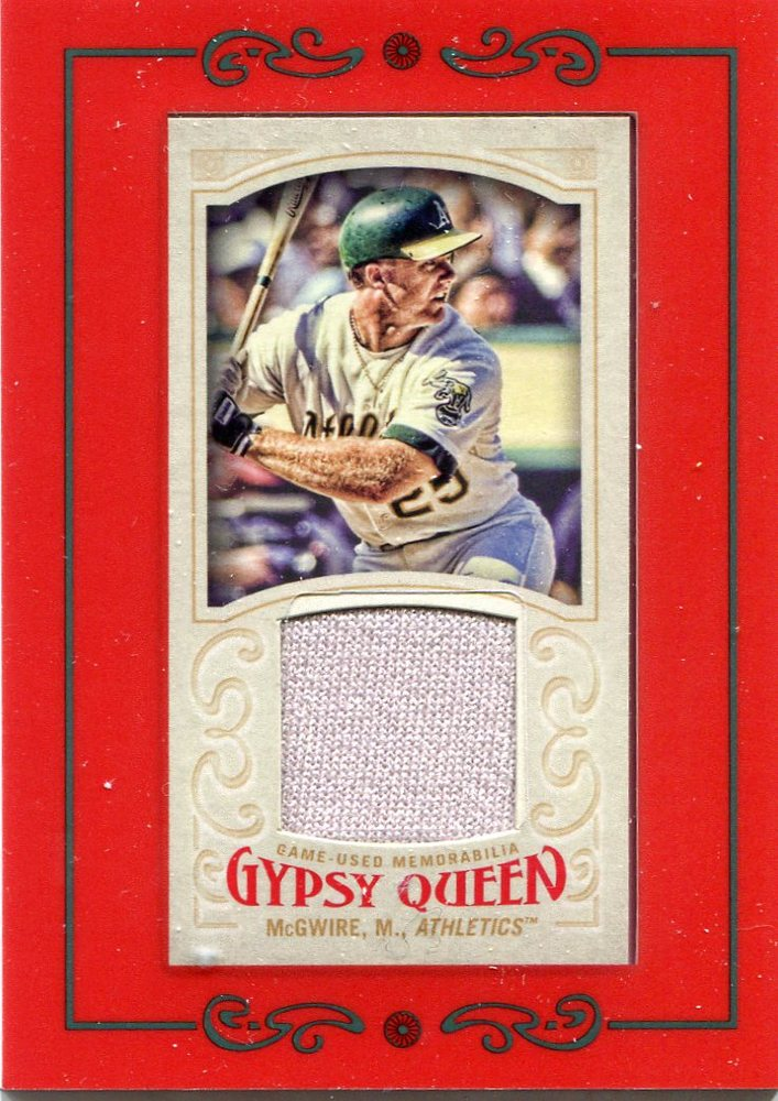 2016 Topps Gypsy Queen Mini Relics Mark McGwire game-worn jersey