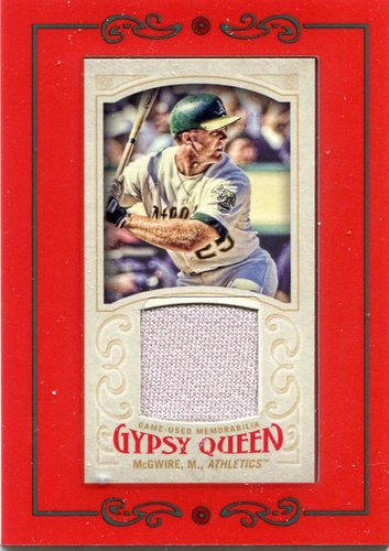 Photo of 2016 Topps Gypsy Queen Mini Relics Mark McGwire game-worn jersey