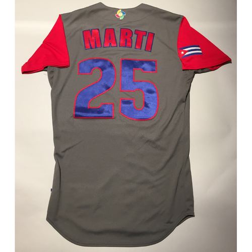 Photo of 2017 WBC: Cuba Game-Used Road Jersey, Marti #25