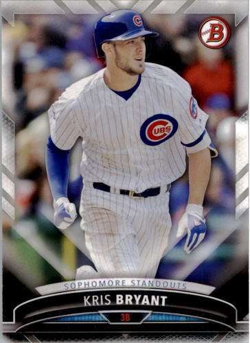 Photo of 2016 Bowman Sophomore Standouts #SS1 Kris Bryant Cubs post-season