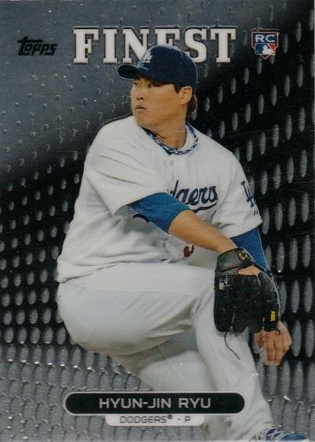 Photo of 2013 Finest #47 Hyun-Jin Ryu Rookie Card -- Dodgers post-season