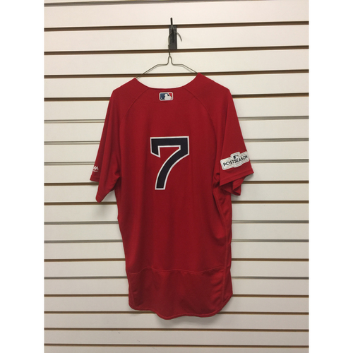 Photo of Christian Vazquez Team-Issued 2017 Home Alternate Jersey