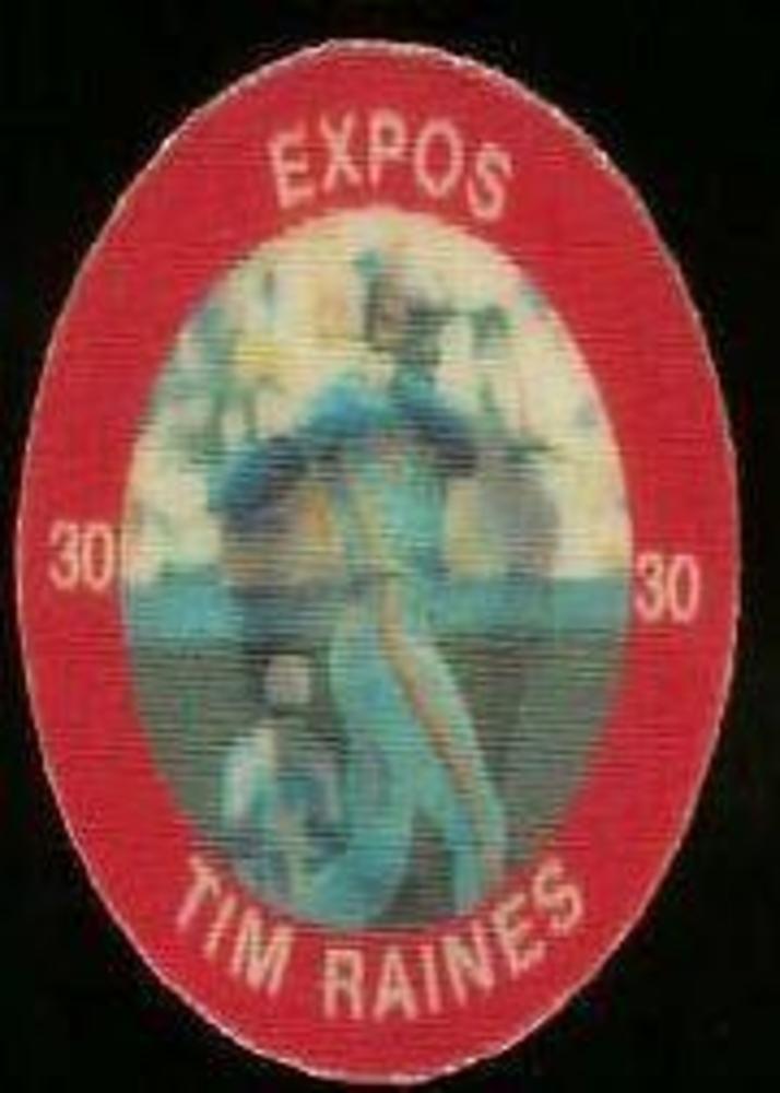 1984 Seven-Eleven Coins #E20 Tim Raines