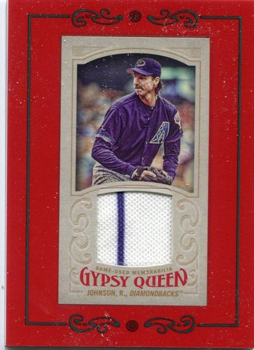 Photo of 2016 Topps Gypsy Queen Mini Relics Randy Johnson game-worn jersey