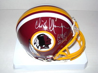 HOF - REDSKINS CHRIS HANBURGER SIGNED REDSKINS MINI HELMET