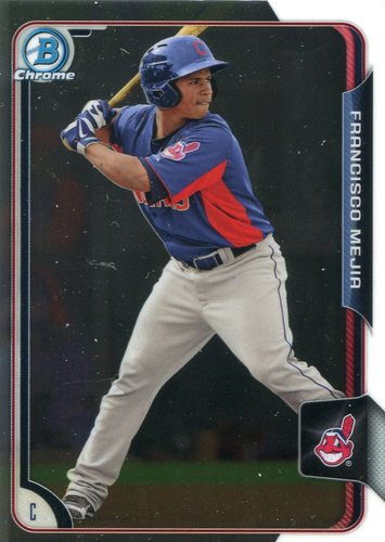 Photo of 2015 Bowman Chrome Prospects #BCP43 Francisco Mejia -- Indians post-season