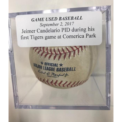 Photo of Game-Used Baseball: Jeimer Candelario Pitched in The Dirt