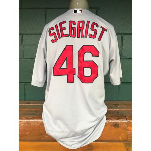 Photo of Cardinals Authentics: Kevin Siegrist Game Worn Road Grey Jersey
