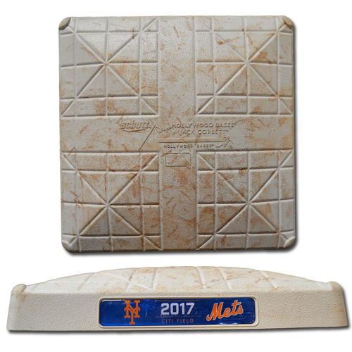 Photo of Game Used Base - 3rd Base, Innings 4-6 - On-Field for Aaron Judge's Home Run - Mets vs. Yankees - 8/16/17