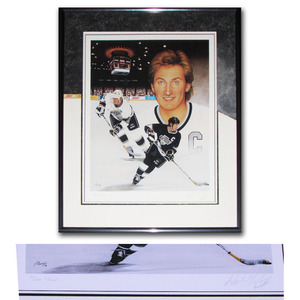 Wayne Gretzky Autographed Los Angeles Kings Framed Limited-Edition Lithograph