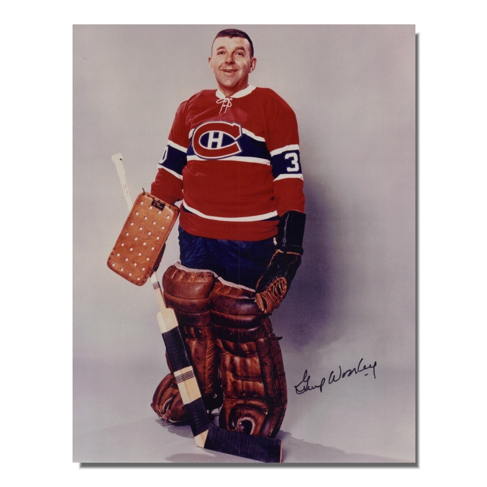 Gump Worsley (deceased) Autographed Montreal Canadiens 8x10 Photo