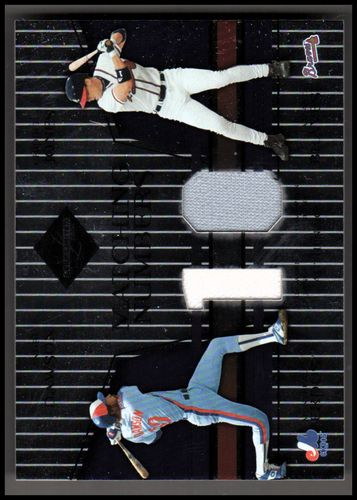 Photo of 2004 Leaf Limited Matching Numbers #23 Andre Dawson Jsy/Chipper Jones Jsy/100