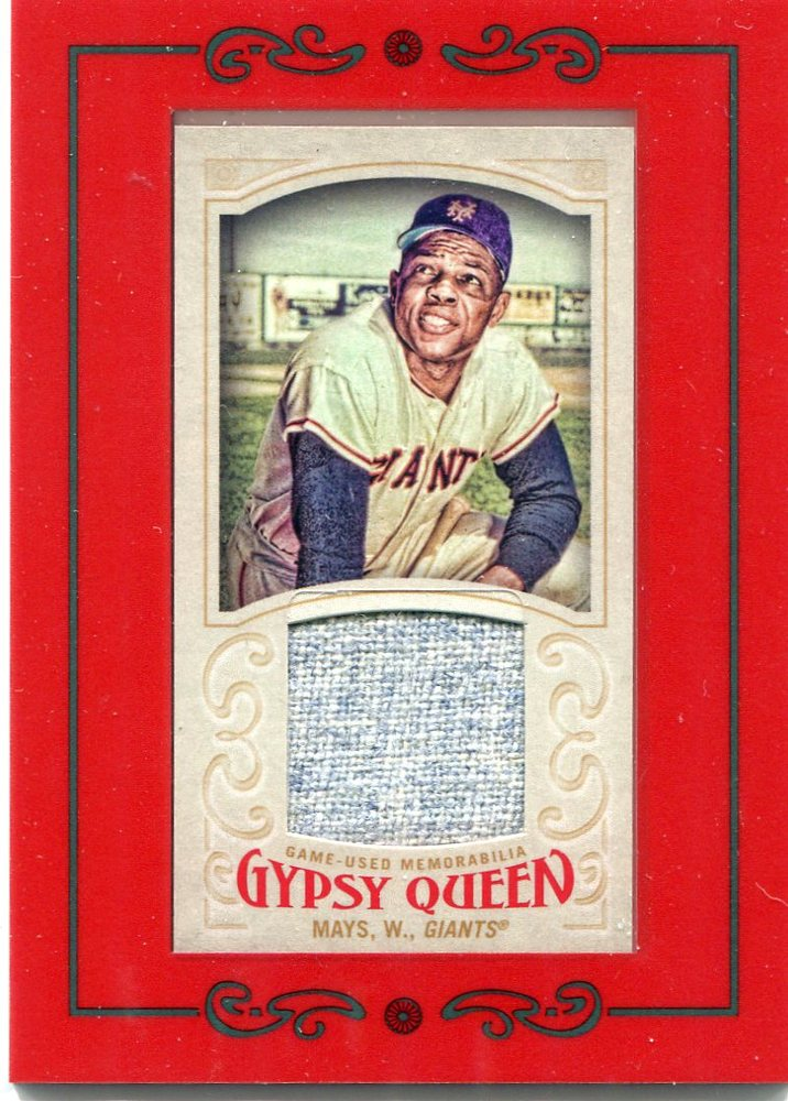 2016 Topps Gypsy Queen Mini Relics  Willie Mays game-worn jersey