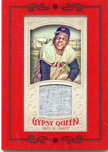Photo of 2016 Topps Gypsy Queen Mini Relics  Willie Mays game-worn jersey
