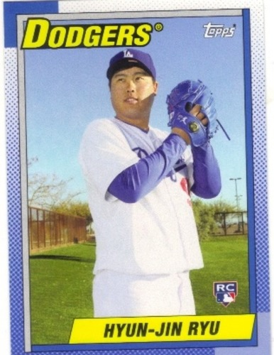 Photo of 2013 Topps Archives #163 Hyun-Jin Ryu Rookie Card -- Dodgers post-season