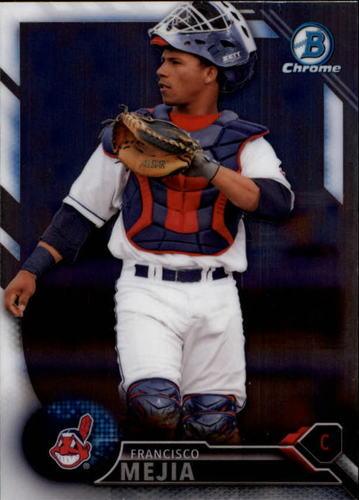 Photo of 2016 Bowman Chrome Draft #BDC161 Francisco Mejia -- Indians post-season