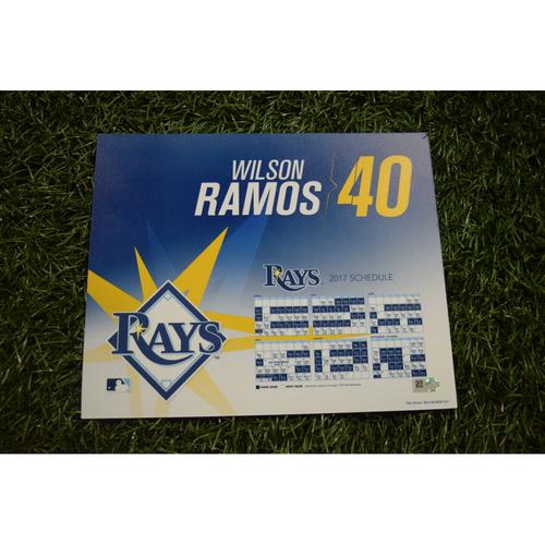 2017 Team-Issued Locker Tag - Wilson Ramos